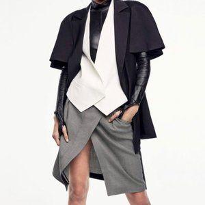 Brunello Cucinelli Wool Cashmere Asymmetric Skirt